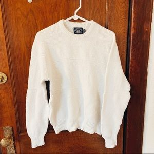 Vintage White Chunky Knit Sweater